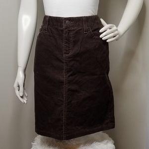 L.L. Bean brown corduroy skirt